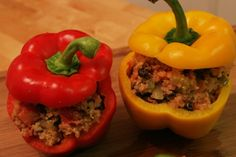 Colored Grateful Stuffed Peppers:
