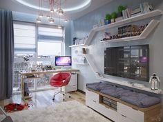 architectural and interior design: Детская для мальчика в новостройке г.Одинцово
