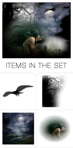 """THE RAVEN......"" by louisevegasgirl ❤ liked on Polyvore featuring art"