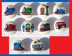 10 THOMAS TheTRAIN Tank  and Friends  BASIC Dresser Drawer Knob. $26.00, via Etsy.