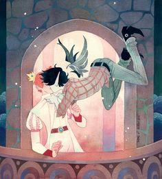 Marshall Lee and Prince Gumball