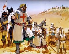 """Crusader escort Christian pilgrims in the Holy Land, 12th-13th centuries"""""""