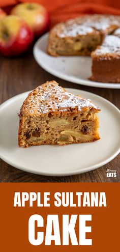 Apple and Sultana Cake - a delicious light healthier cake with fresh apples, sultanas and a hint of spices. Slimming World Vegetarian Recipes, Healthy Eating Recipes, Healthy Baking, Diabetic Recipes, Slimming World Cake, Slimming World Desserts, Healthy Apple Cake, Healthy Sweet Treats, Apple Recipes