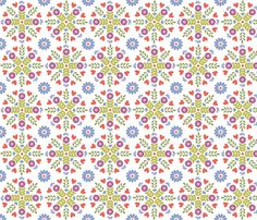 Scandinavian Circles on White ground fabric by elizajanecurtis on Spoonflower - custom fabric