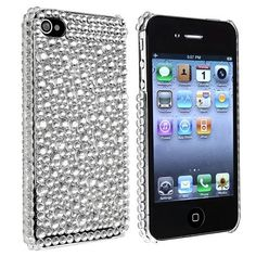 eForCity Snap-on Case Compatible With Apple® iPhone® 4 / 4S, Silver Rhinestone Bling, http://www.amazon.com/dp/B004HORGWA/ref=cm_sw_r_pi_awdm_RNhjtb1AFZ845