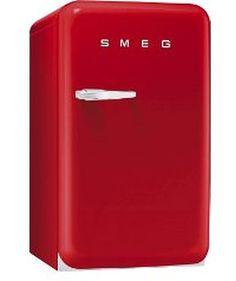 Standkühlschrank mit Gefrierfach von SMEG in rot