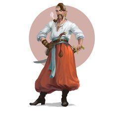 Kozak by OlenaMinko on DeviantArt Character Concept, Character Art, Concept Art, Character Design, Character Ideas, Slavic Tattoo, Ukrainian Art, Visual Aids, Dnd Characters