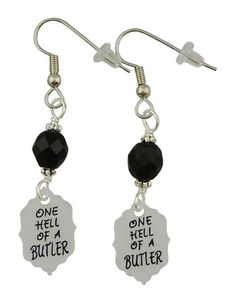 Unique Creations — Black Butler Inspired Earrings,   anime manga jewelry