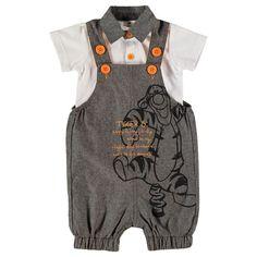 Disney Baby Tigger Dungarees Outfit Set