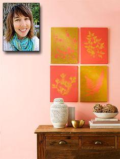 home craft ideas, home crafts, botanical prints, botan print
