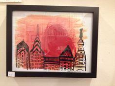 The Little Apple - Philly Skyline Print, framed, $30