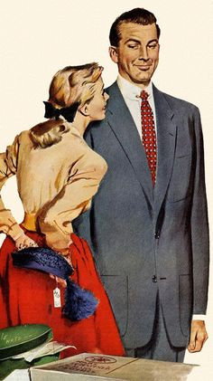 A '50s Housewife hides the 'evidence' from hubby with a smile.