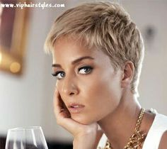 soft toned blonde pixie