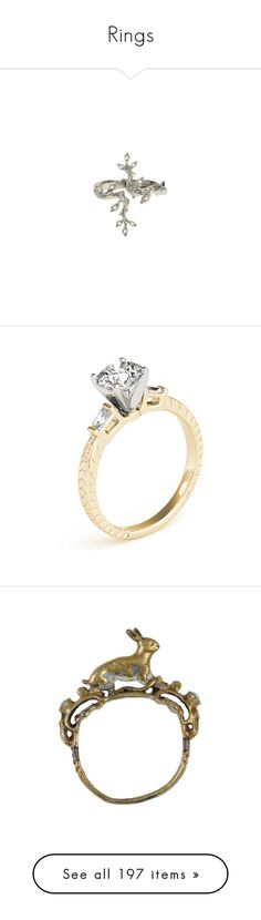 """""""Rings"""" by taught-to-fly19 on Polyvore featuring jewelry, rings, accessories, leaves jewelry, cathy waterman jewelry, cathy waterman rings, cathy waterman, leaf design rings, gold ring e baguette diamond ring"""