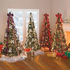 artificial christmas trees brylanehome flat to fabulous fully decorated pre lit tree red - Pre Decorated Christmas Trees For Sale