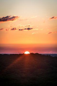 El Mirador National Park, Peten, Guatemala — by Sergio Camalich. The sunset as seen from the top of El Tigre temple, in El Mirador.