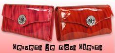 Červená je nová čierna!  Dámska peňaženka lakovaná, s vysokým leskom.   http://www.vasepenazenky.sk/damske-penazenky-vasepenazenky/