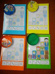 Game: my family. Preschool Family, Preschool Board Games, Preschool Themes, Kindergarten Activities, Family Activities, Number Sense Kindergarten, Family Theme, 1st Boy Birthday, Numeracy