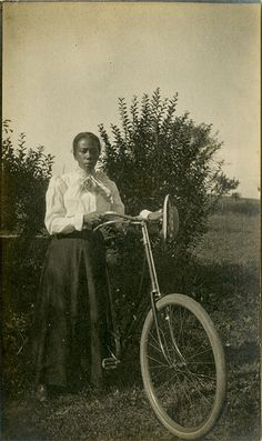 Black Woman with a Bicycle - Shellir Island, New Jersey, 1901 | Flickr - Photo Sharing!