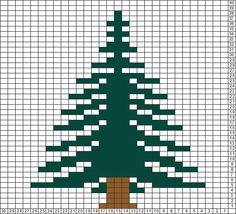 Tricksy Knitter Charts: pine tree by Jessica