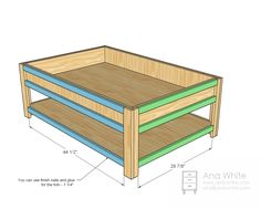 Ana White | Build a Mom's Train Table | Free and Easy DIY Project and Furniture Plans