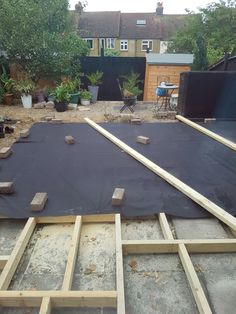 End of day 1 decking ....