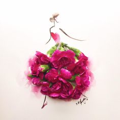 After women, flowers are the most lovely thing God has given the world.' - Christian Dior  Happy 'Wonder' Women's Day to all of you! Just a quick do with these lovely magenta carnations.