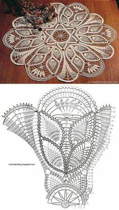 Big crochet napkin..