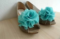teal shoes for wedding | Wedding Shoe Clips - Bridal Shoe Clips - Teal ... | Bridesmaid/grooms ...