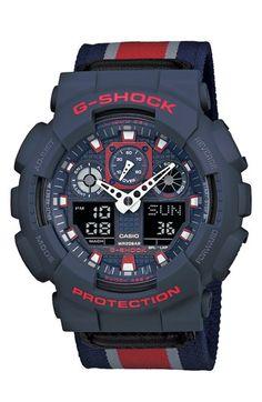 G-Shock 'XL Ana-Digi' Nylon Strap Watch, 55mm available at #Nordstrom