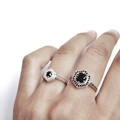 www.meadowlarkjewellery.com Meadowlark Hex engagement rings, mini and standard x