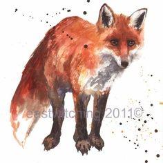 FOX Watercolour Print fox fox print fox painting by eastwitching Watercolor Animals, Watercolor Print, Watercolor Paintings, Fox Watercolour, Watercolor Tattoo, Kids Prints, Fine Art Prints, Art Fox, Fox Painting