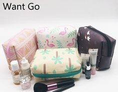 0c6c8fa0d465 Want Go Square Women Cosmetic Cases Bags Pu Leather Makeup Bag Waterproof  Wash Organizer Pouch Portable