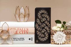 """Peep Lauren Conrad's (Chanel-Filled!) L.A. Pad — STAT! #refinery29  http://www.refinery29.com/the-coveteur/18#slide20  """"Love this shot! I got the sheer candle holders on a trip to Bali last year.""""     Clutch: Chanel"""