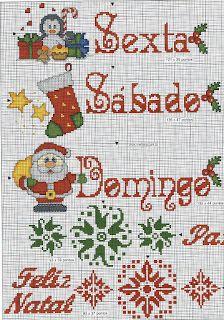 Ponto cruz e crochê...Made in Portugal: Semaninha Ponto Cruz