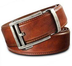 VinicioBelt Classic Antique Bronze Buckle w// Automatic Ratchet Belt