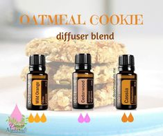 Oatmeal cookies! Yummy!!  Have the fresh baked cookie smell without actually baking!  Yes, please!!  This diffuser blend uses the essential oils of wild orange, Cedarwood and Cassia.  These doterra essential oils smell delicious and will also help relax the mind and ease stressful feelings.