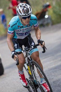 Levi Leipheimer (Omega-Pharma QuickStep) away solo to win Stage 6 of Tour of Utah .. cyclingnews.com Photo: Jonathan Devich