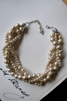 champagne chunky pearls