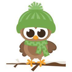 Silhouette Design Store - View Design #172123: boy winter owl