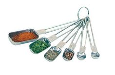 Fox Run 6Piece Stainless Steel Rectangular Measuring Spoon Set