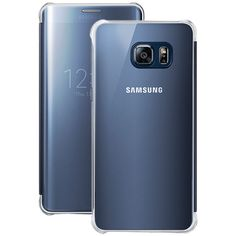 Samsung Samsung Galaxy S6 Edge+ S-view Flip Cover (clear And Black Sapphire)