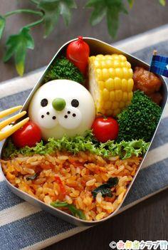 おかずdeワンポイント♪アザラシちゃんのゆで卵弁当 | キャラクター弁当 | OCNお弁当クラブ レシピ