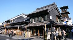 "Kawagoe 川越: 30 min daytrip destination from Tokyo. Its main street, lined with Kurazukuri (clay-walled, fire-resistant warehouse-styled) buildings, retains an ambience reminiscent of an old town from the Edo Period (1603-1867) and allows us to imagine the streets from past centuries. Thereby, Kawagoe became known as ""Little Edo""."