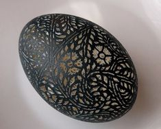 carved lace egg
