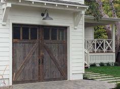 Wood stain color - garage door / carriage door. We can match this with the Artisan Custom Doorworks Manufacturer. Rhapsody Series.
