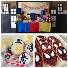 super cool #spiderman #party. I love the decorations on the table!