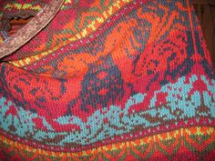 Ravelry: Dragon Ride Shawl pattern by Kathleen Taylor  Published in Fearless Fairisle, worsted wt yarn