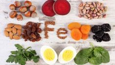 Ingredients And Products Containing Iron And Dietary Fiber, Healthy Nutrition Stock Photo - Image of organic, nutritious: 71700650 Foods With Iron, Foods High In Iron, Iron Rich Foods, Ferritin Deficiency, Iron Deficiency, Low Ferritin, Homemade Trail Mix, Metabolism Boosting Foods, Metabolic Diet
