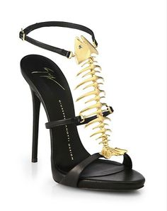 Guiseppe Zanotti Skeletal Fish Sandals